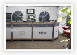 Dienstleistungen wie Catering von der Weinkellerei Wangler